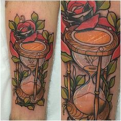 15 Philosophical Hourglass Tattoos