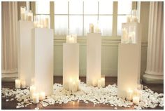Gorgeous decor for entrance and alter