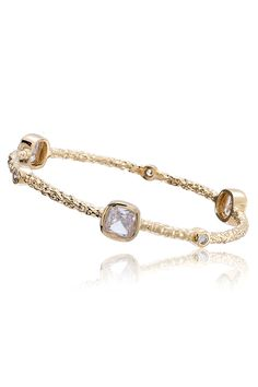 Bangle with Clear Stones - Beyond the Rack