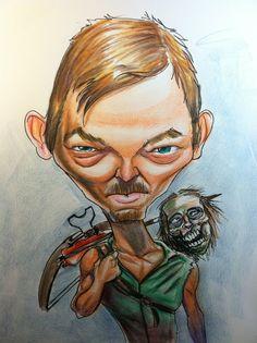Daryl Dixon, The Walking Dead by biomek.deviantart.com