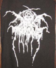 DARKTHRONE logo patch black metal Free Shipping