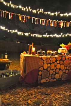 Fall Party!! Outdoor Fireside Party Tablescape
