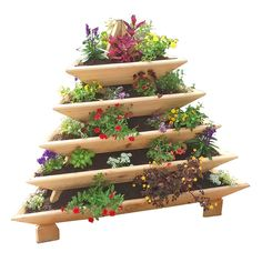 5 Level Plant Pyramid http://eartheasy.com/yard-garden/raised-garden-beds-kits-planters/triolife-plant-pyramid-5-levels Grow over triple the plants per square foot! The 5-level Plant Pyramid has a small footprint and maximizes growing space with five tiers of garden beds. Made in the USA.