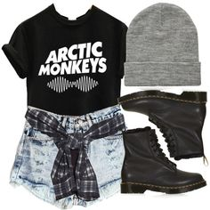 Arctic monkeys, created by feathersandroses on Polyvore