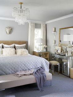 "Design tip from Jan Jones of Martensen Jones Interiors: ""If you can't afford good art, buy a great mirror."" #bedroom #interior_design #mirrors"