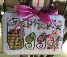 Completed Cross Stitch Shepherds Bush Spring Ornament Eggs for Easter | eBay