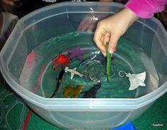 Gross but good activity on water pollution. Dump a bunch of gunk ...