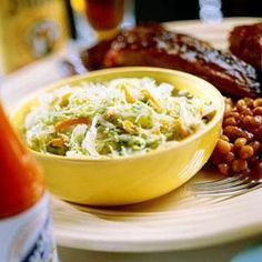 Our Best Barbecue Side Dishes - Best Barbecue Coleslaw Recipe - Southern Living Barbecue Sides, Barbecue Side Dishes, Southern Coleslaw, Southern Living Coleslaw Recipe, Best Coleslaw Recipe, Chou Rave, Great Recipes, Favorite Recipes, Soup And Salad