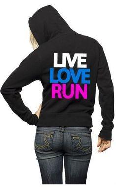 I Love Cross Country Running Zip Hoodie 5bqhmwbcm