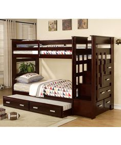 My son loves bunkbeds. He is afraid of ladders. He's been asking me to find a bunk bed with stairs for months... who knew it actually existed!?