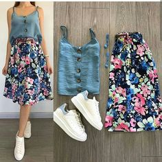 Which combination did you like the most? Your friends … - Summer Outfits Fashion Mode, Skirt Fashion, Korean Fashion, Fashion Dresses, Womens Fashion, Fashion Trends, Fashion Art, Fashion Shoes, Mode Outfits