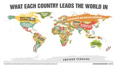 A Map of What Every Single Country Leads the World In