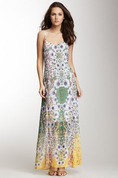 Romeo & Juliet Couture Floral Print Maxi Dress by Flower Power on @HauteLook