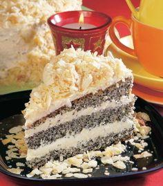 Maková torta s mandľovou posýpkou - Recept pre každého kuchára, množstvo receptov pre pečenie a varenie. Recepty pre chutný život. Slovenské jedlá a medzinárodná kuchyňa