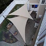 Backyard patio awning shade sails Ideas for 2019 Awning Shade, Deck Shade, Pool Shade, Shade House, Backyard Shade, Sun Sail Shade, Backyard Privacy, Pergola Shade, Pergola Patio