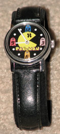A vintage Pac-Man mechanical wind watch.  It still keeps time very well.