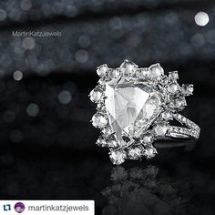 """#Repost @martinkatzjewels ・・・ """"I have always been inspired by #VintageJewelry and classic Hollywood glamour"""". #MartinKatz  #DiamondRing #MartinKatzJewels"""