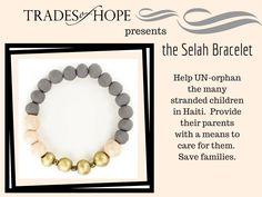 Selah Bracelet: Change lives when you shop at http://www.mytradesofhope.com/home.aspx