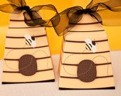 Just BEE-cause Beehive Printable Favor Box  {via Piggy Bank Parties}