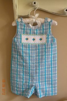 Baby Boy Hand Smocked Short all               by TheSmockingGarden, $30.00