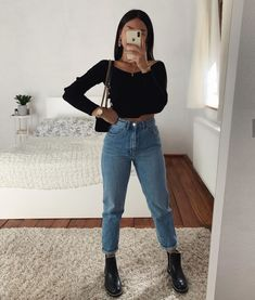 ♥ 50 basics of grunge style and modern interpretation 21 - Outfit Ideen Mode Instagram, Instagram Outfits, Teenager Outfits, College Outfits, Vegas Outfits, School Outfits, Cute Casual Outfits, Simple Outfits, Winter Fashion Outfits