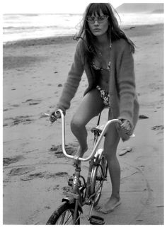 """Monika Jagaciak photographed by Craig McDean in """"Jac"""" for Interview Magazine, June / July 2010 — Portraits Of Girls Summer Of Love, Summer Beach, Beach Bum, Summer Time, Monika Jagaciak, Craig Mcdean, Cycle Chic, Bicycle Girl, Bicycle Race"""