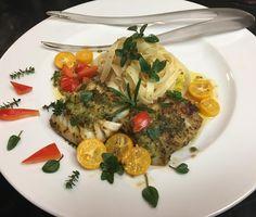 Wild Cod Fish  with Fresh Pesto Fresh Lemon Thyme Italian Oregano  Rosemary Kumquat Fettuccine with White Truffle Oil . Dinner with my amazing Swipstix designs by The Brilliant Tom @littledeerhome #luchiachia #luchiacookbook is available on Amazon.com in the world  #cookbook #chef #chefconsultant #chefoninstagram #foodblogger #foodblog #foodiegram #foodie #organic #healthyfood #healthyeating #healthy #gourmetfood #amazing #beautiful #cooking #swipstix #littledeertools #siliconvalley #bayarea…