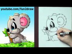 how to draw a koala cute