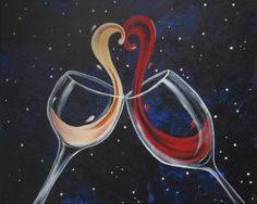 Social Artworking Canvas Painting Design - Cheers to Love