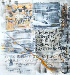 30 x 40cm Abstract Calligraphy. Acrylic Ink and Gesso using folded pen and Brause nibs