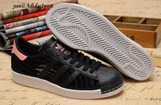 Adidas Originals Superstar 80s Dame Sommer Mesh Sko Sort Fade Rose HOT  SALE! HOT a3ed37a32d5