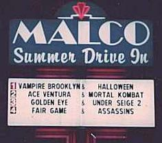 nothing is more fun in good weather than the Malco Summer Drive In movie