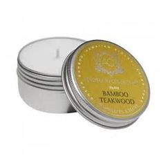Aquiesse Bamboo Teakwood Soy Travel Tin Candle | Abode and Company. The Aquiesse Portfolio Candle Tin Collection uses a soy wax blend and is made with organic soybean oil and carefully selected lead-free wicks. Inspired by nature. Relax, breathe, dream and enjoy life!  Elegant and refined recyclable tin with twist on lids for a tight seal. Tins make fantastic keepsake containers.