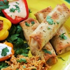 Baked Chicken Taquitos - For my obsession with mexican food