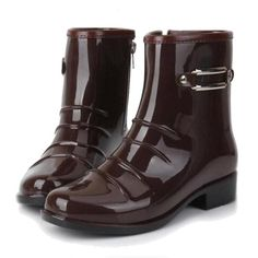 56ee4272e92 Tangnest Man s Sequined Solid Mid-Calf Rain Boots Men High Quality Rubber  Boots Men Slip On Waterproof Non-slip Footwear XMX572