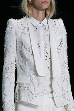 Roberto Cavalli 2013 white lace jacket