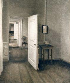 The Four Rooms, 1914 - Vilhelm Hammershøi