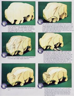 #595 Bison Carving - Wood Carving Patterns - Wood Carving Patterns and Techniques