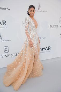 Chanel Iman en robe Zuhair Murad haute couture printemps-été 2015. #Cannes2015