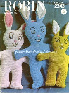 WZ344 mad retro bunny rabbits from WonkyZebra on Etsy