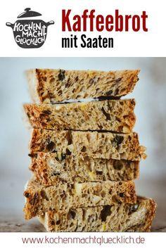 Rezept für Kaffeebrot mit Saaten - Kochen macht glücklich Sweet Bakery, International Recipes, Creative Food, Easy Peasy, Brunch, Good Food, Vegetarian, Favorite Recipes, Bread