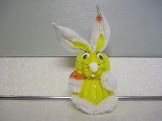 Vintage  Handmade Chenille Easter Bunny Rabbit by DoNotDestroy