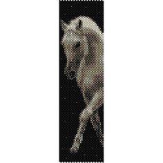 Horse 4 Peyote Bead Pattern, Bracelet Cuff, Bookmark, Seed Beading Pattern Miyuki Delica Size 11 Beads - PDF Instant Download by SmartArtsSupply on Etsy