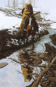 Bev Doolittle Spirit of The Grizzly WSS Art Print | Was thrilled to be able to give my son one of these a few years ago.
