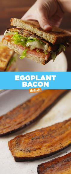 How to Make Vegan Bacon from Eggplant Bacon Recipes, Vegetable Recipes, Low Carb Recipes, Whole Food Recipes, Vegetarian Recipes, Cooking Recipes, Healthy Recipes, Vegan Eggplant Recipes, Eggplant Dishes