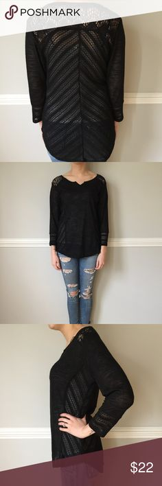Brand new lightweight black lace top! Never worn- lightweight black lace top! So cute! Tops
