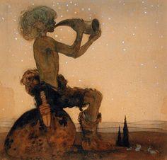 A fairy shepherd - John Bauer