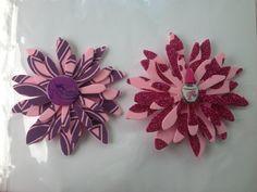 Purple & Pink Foam Sizzix Daisy Hair Clips