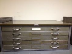 Flat File / Flat Files Cabinet - For Paper, Print, Poster, Art Storage - Diff…
