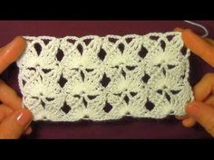 Узор плотно ажурный - YouTube Crochet Butterfly Pattern, Butterfly Stitches, Crochet Diagram, Filet Crochet, Knit Crochet, Crochet Stitches Patterns, Stitch Patterns, Knitting Patterns, Crochet Crocodile Stitch